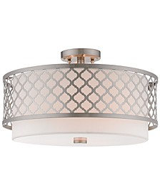 Arabesque 3-Light Semi Flush