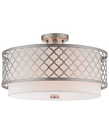 Livex Arabesque 3-Light Semi Flush