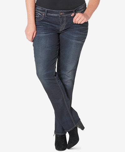 Silver Jeans Co. Trendy Plus Size Suki Slim Bootcut Jeans