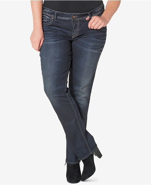 8e591533c490 Plus Size Suki Slim Bootcut Jeans; Silver Jeans Co. Plus Size Suki Slim  Bootcut Jeans ...