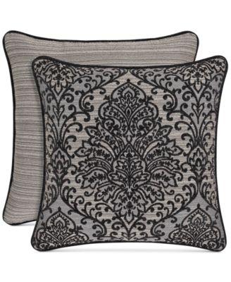 """Raffaella Graphite 20"""" Square Decorative Pillow"""