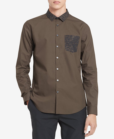 Calvin Klein Men's Contrast Pocket Shirt