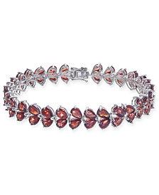 Rhodolite Garnet Link Bracelet (30 ct. t.w.) in Sterling Silver