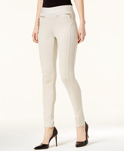 I.N.C. Seamed Skinny Pants, Created For Macy's