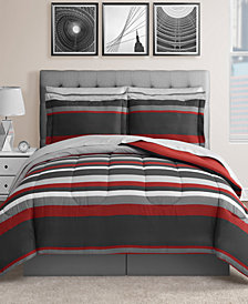 Austin 8-Pc. Reversible King Bedding Ensemble