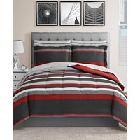 8-Piece Fairfield Square Collection Austin Reversible Bedding Sets (Red / Blue)