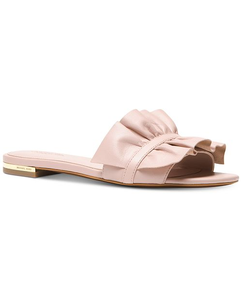 375fa72a8949 Michael Kors Bella Slide Sandals   Reviews - Sandals   Flip Flops ...
