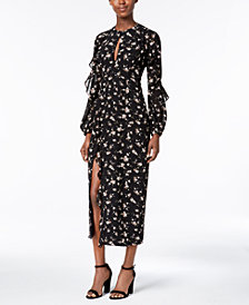 Bardot Floral-Print Ruffled Maxi Dress