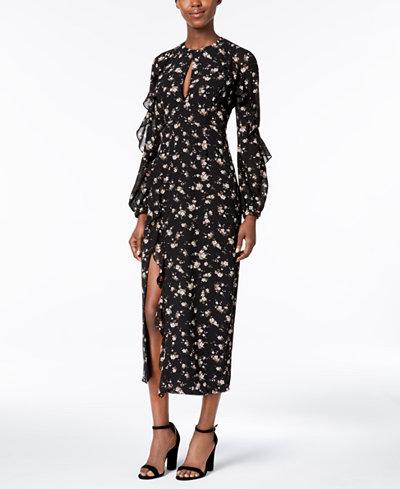 Bardot Floral-Print Ruffled Maxi Dress