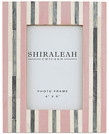 Shiraleah Griggio Striped 4'' x 6'' Picture Frame