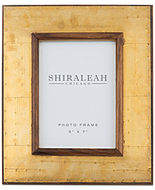 Shiraleah America 5'' x 7'' Wood & Brass Picture Frame