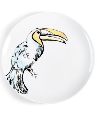 CLOSEOUT! Tropicalia Toucan Salad Plate, Created for Macy's