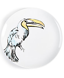 CLOSEOUT! The Cellar Tropicalia Toucan Salad Plate, Created for Macy's