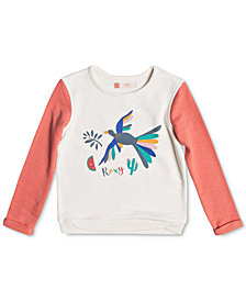 Roxy Gonna Win Birdy Bird Sweatshirt, Little Girls