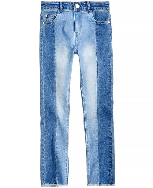 10b4718ca Tommy Hilfiger Two-Tone Skinny Jeans, Big Girls & Reviews - Jeans ...
