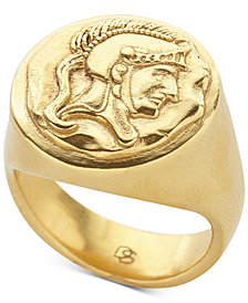 DEGS & SAL Men's Spartan Signet Ring 14k Gold-Plated Sterling Silver
