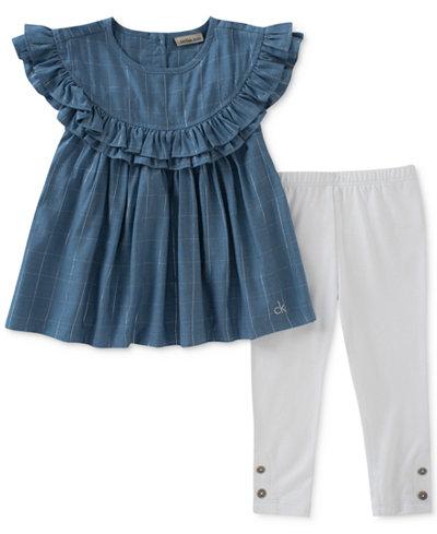 Calvin Klein 2-Pc. Tunic & Leggings Set, Little Girls