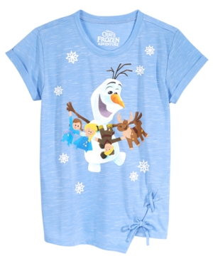Disneys Frozen Olaf LaceUp Hem TShirt Big Girls (716)