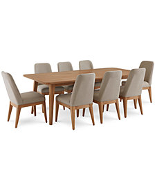 Martha Stewart Collection Brookline Expandable Dining Furniture, 9-Pc. Set (Dining Table & 8 Side Chairs), Created for Macy's