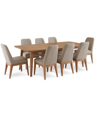 Martha Stewart Collection Brookline Expandable Dining Furniture, 9 Pc. Set (Dining  Table