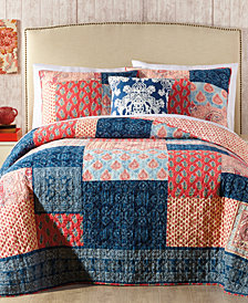 Jessica Simpson Grace Cotton Patchwork Printed Quilt & Sham Collection