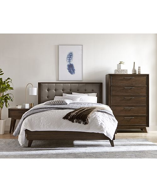 Furniture Jollene Upholstered Bedroom Furniture Collection, Created ...