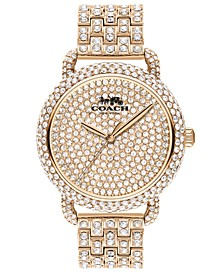 Women's Delancey Carnation Gold-Tone Pavé Bracelet Watch 36mm