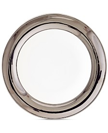 Darbie Angell Monaco Platinum Rim Soup Bowl