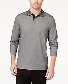 Men's Supima® Blend Long-Sleeve Polo, Created for Macy's