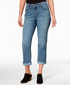 Style & Co Petite Curvy-Fit Boyfriend Jeans, Created for Macy's