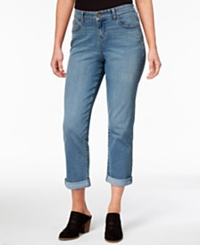 Style & Co Petite Curvy-Fit Boyfriend Capri Jeans, Created for Macy's