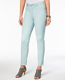 Style&co. Petite Curvy-Fit Skinny Jeans, Colored Wash