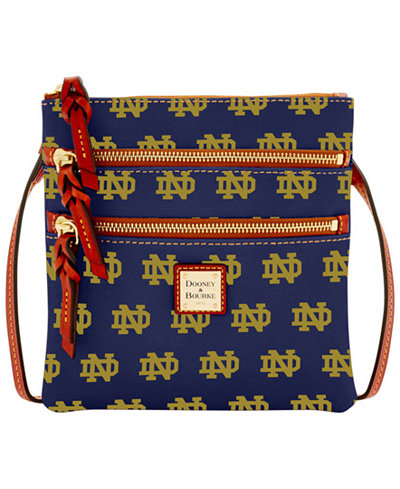 Dooney & Bourke Notre Dame Fighting Irish Triple Zip Crossbody Bag