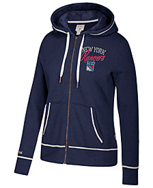 CCM Women's New York Rangers Full-Zip Hooded Sweatshirt