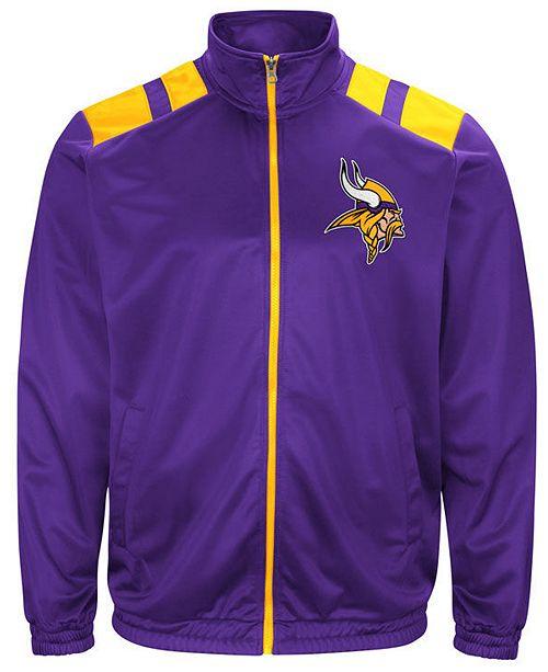 G-III Sports Men's Minnesota Vikings Broad Jump Track Jacket
