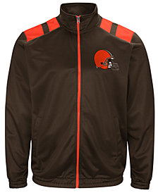 G-III Sports Men's Cleveland Browns Broad Jump Track Jacket