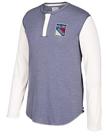 CCM Men's New York Rangers Long Sleeve Henley Shirt