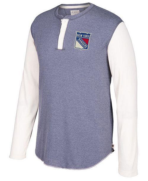 c27d39fa8 CCM Men s New York Rangers Long Sleeve Henley Shirt - Sports Fan ...