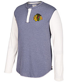 CCM Men's Chicago Blackhawks Long Sleeve Henley Shirt
