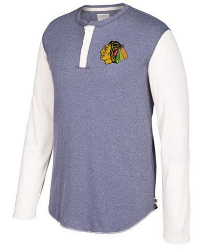 CCM Men's Chicago Blackhawks Long Sleeve Henley Shirt