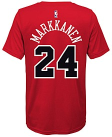 Lauri Markkanen Chicago Bulls Icon Name & Number T-Shirt, Big Boys (8-20)
