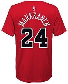 Nike Lauri Markkanen Chicago Bulls Icon Name & Number T-Shirt, Big Boys (8-20)