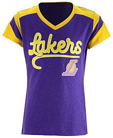 5th & Ocean Los Angeles Lakers Contrast Slub T-Shirt, Girls (4-16)