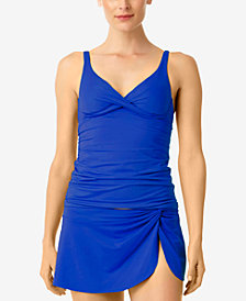 Anne Cole Bra-Sized Tankini Top & Swim Skirt