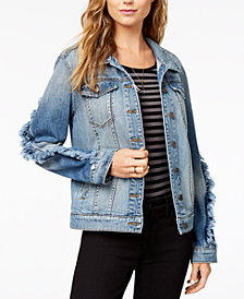 STS Blue Oversize Boyfriend Fray Detail Jacket