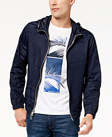 Michael Kors Men's Engineered Striped Hooded Jacket