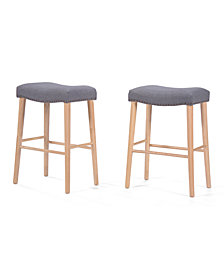 Ceelen Backless Bar Stool (Set Of 2), Quick Ship