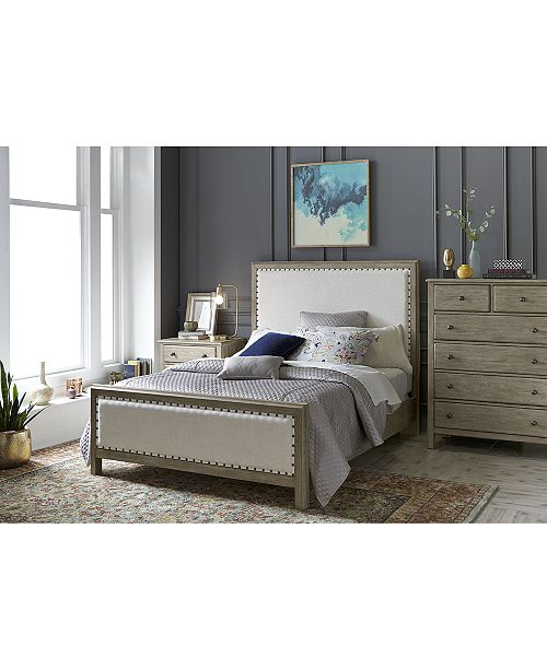 Furniture Parker Upholstered Bedroom Furniture, 3-Pc. Set (Queen Bed ...