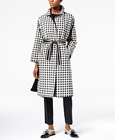 Weekend Max Mara Karman Check-Print Reversible Raincoat