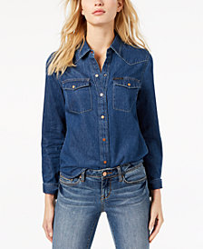 Calvin Klein Jeans Western Cotton Denim Shirt